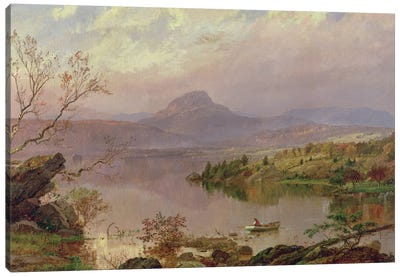 Sugarloaf from Wickham Lake, 1876  Canvas Art Print