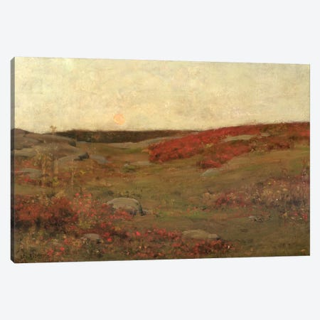 Sunrise, Autumn, c.1885  Canvas Print #BMN2144} by Childe Hassam Canvas Artwork
