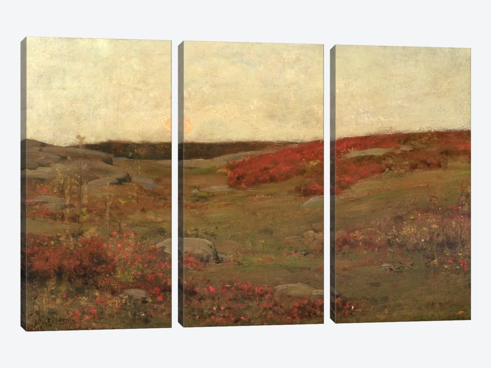 Sunrise, Autumn, c.1885  by Childe Hassam 3-piece Canvas Wall Art