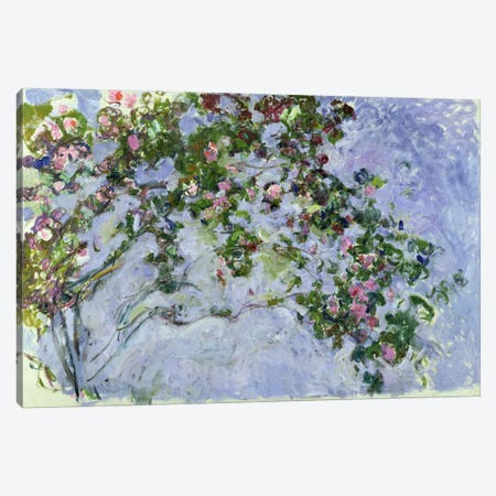 The Roses, 1925-26  Canvas Print #BMN2145} by Claude Monet Canvas Wall Art