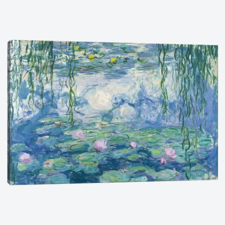 Waterlilies, 1916-19   Canvas Print #BMN2146} by Claude Monet Canvas Art