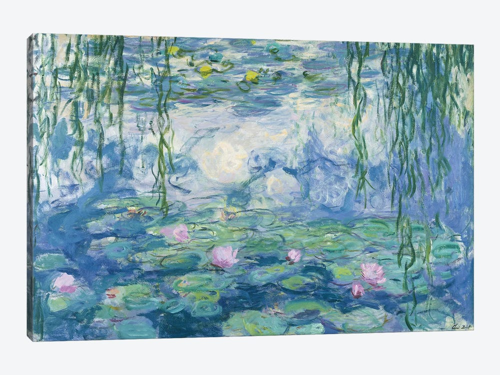 Waterlilies, 1916-19 by Claude Monet 1-piece Canvas Wall Art