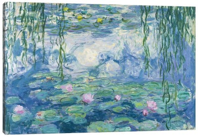Waterlilies, 1916-19   Canvas Art Print