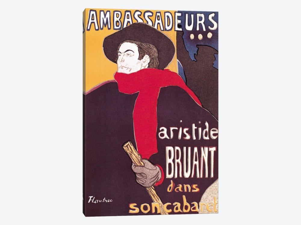 Poster advertising Aristide Bruant  by Henri de Toulouse-Lautrec 1-piece Art Print