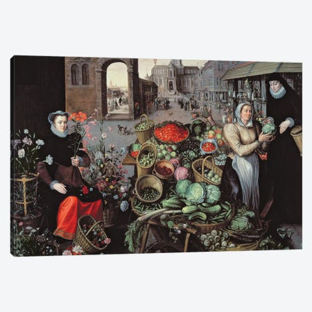Vegetable and Flower Market  Canvas Print #BMN2150} by Arnout de Muyser Canvas Artwork