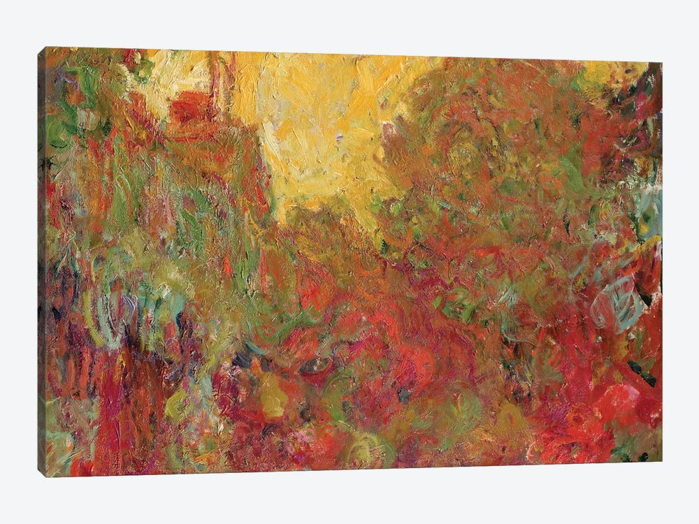 The House seen from the Rose Garden, 1922-24  by Claude Monet 1-piece Canvas Print