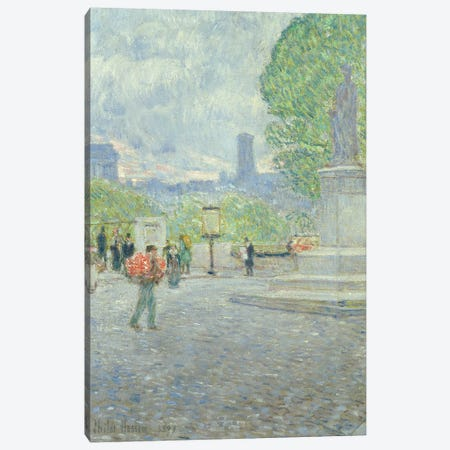 Quai Malaquais, 1897  Canvas Print #BMN2155} by Childe Hassam Art Print