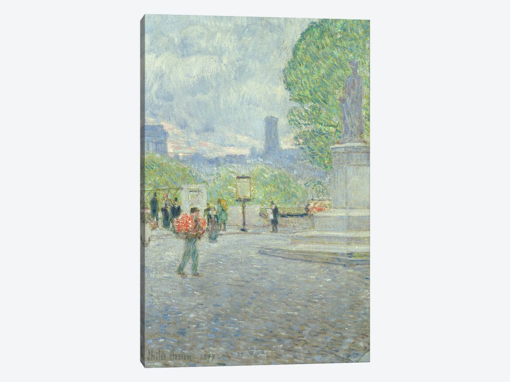 Quai Malaquais, 1897  by Childe Hassam 1-piece Canvas Art