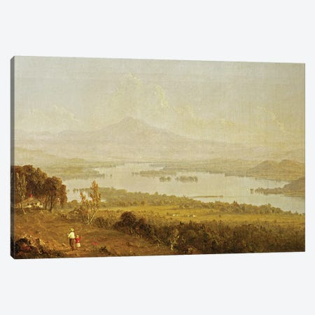 Lake Winnipiseogee, 1858  Canvas Print #BMN2156} by Sanford Robinson Gifford Canvas Art Print