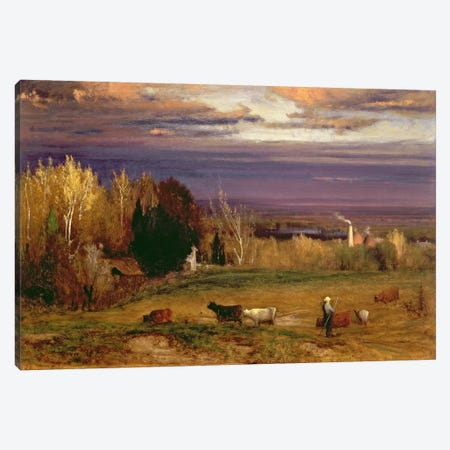 Sunshine After Storm or Sunset, 1875  Canvas Print #BMN2158} by George Inness Sr. Canvas Artwork