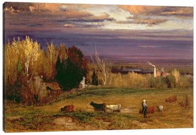 Sunshine After Storm or Sunset, 1875  Canvas Art Print