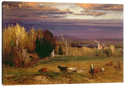 Sunshine After Storm or Sunset, 1875  Canvas Art Print