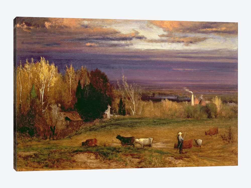 Sunshine After Storm or Sunset, 1875  by George Inness Sr. 1-piece Canvas Art Print