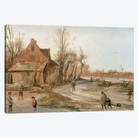Winter Landscape, 1623  Canvas Print #BMN215} by Esaias I van de Velde Canvas Art