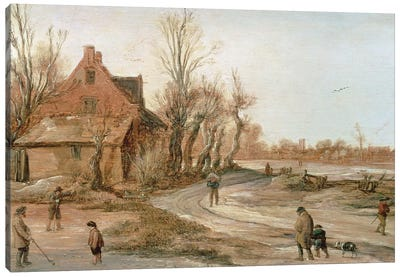 Winter Landscape, 1623  Canvas Art Print
