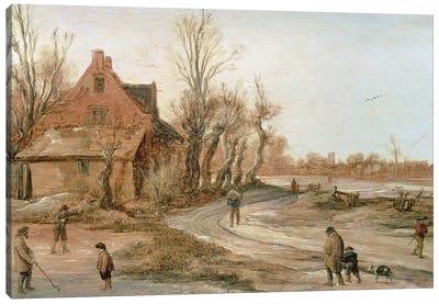 Winter Landscape, 1623  Canvas Art Print