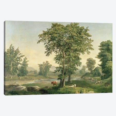 Landscape, 1846  Canvas Print #BMN2161} by George Inness Sr. Canvas Art Print