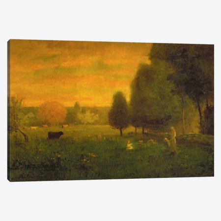 Sundown Brilliance  Canvas Print #BMN2162} by George Inness Sr. Canvas Art Print