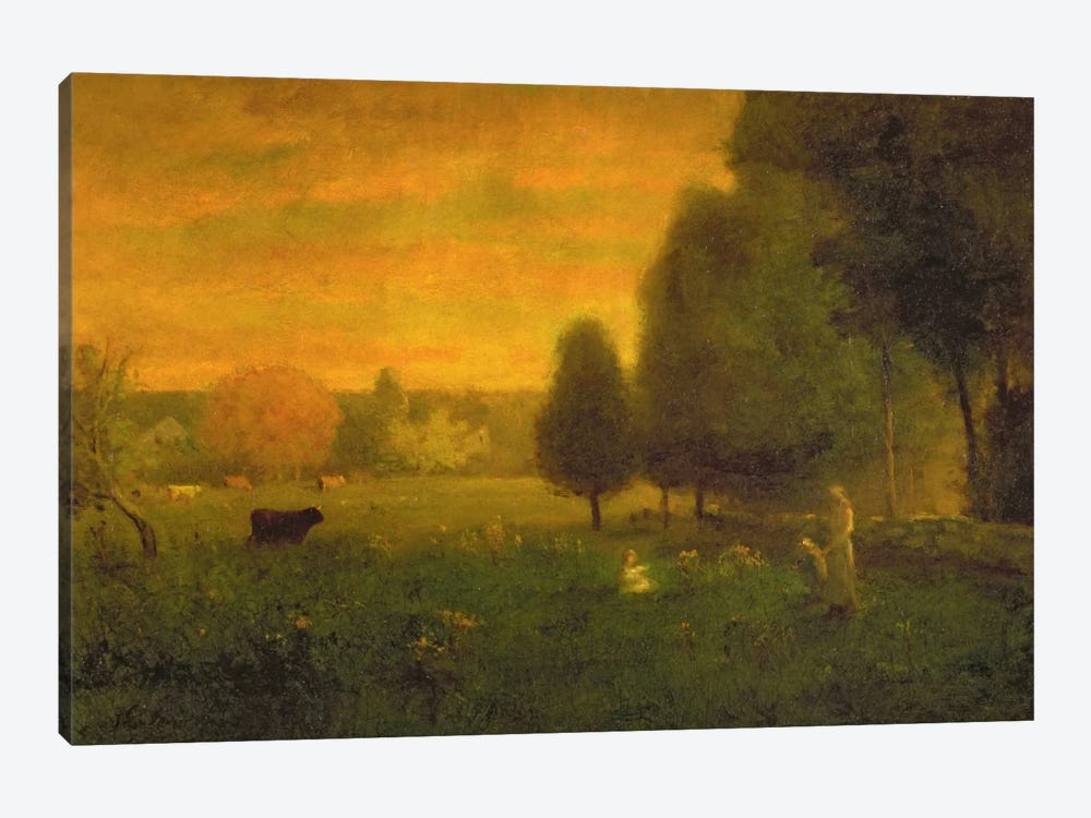 Sundown Brilliance  by George Inness Sr. 1-piece Canvas Art