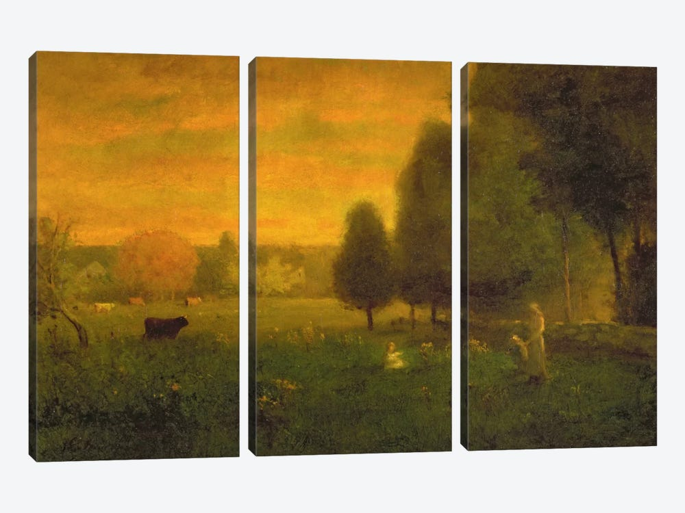 Sundown Brilliance  by George Inness Sr. 3-piece Canvas Art
