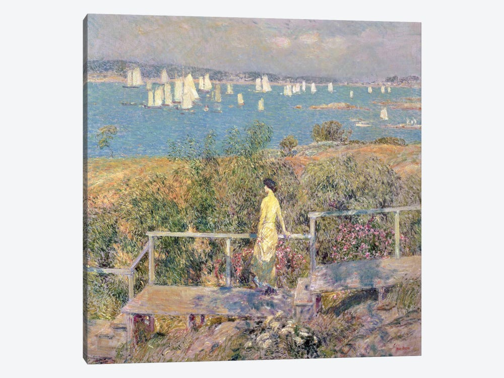 Yachts, Gloucester, 1889 by Childe Hassam 1-piece Canvas Art Print