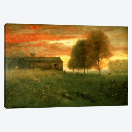 Sunset, Montclair, 1892  Canvas Print #BMN2164} by George Inness Sr. Canvas Wall Art