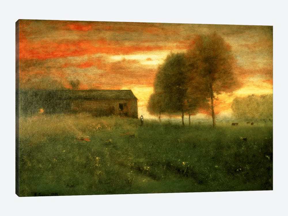 Sunset, Montclair, 1892  by George Inness Sr. 1-piece Canvas Artwork