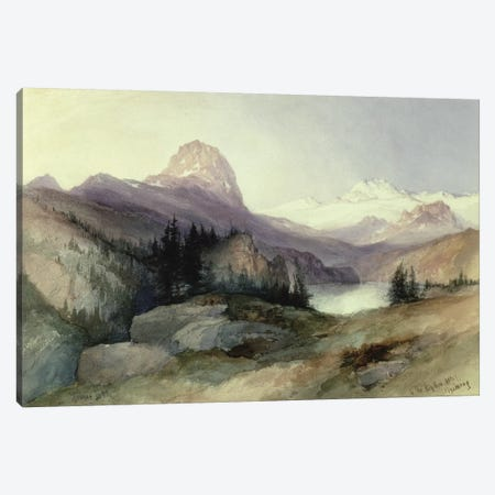 In the Bighorn Mountains, 1889  Canvas Print #BMN2165} by Thomas Moran Canvas Artwork