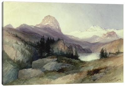 In the Bighorn Mountains, 1889  Canvas Art Print