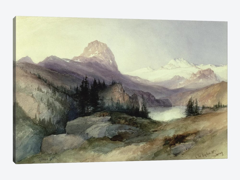 In the Bighorn Mountains, 1889  by Thomas Moran 1-piece Canvas Print