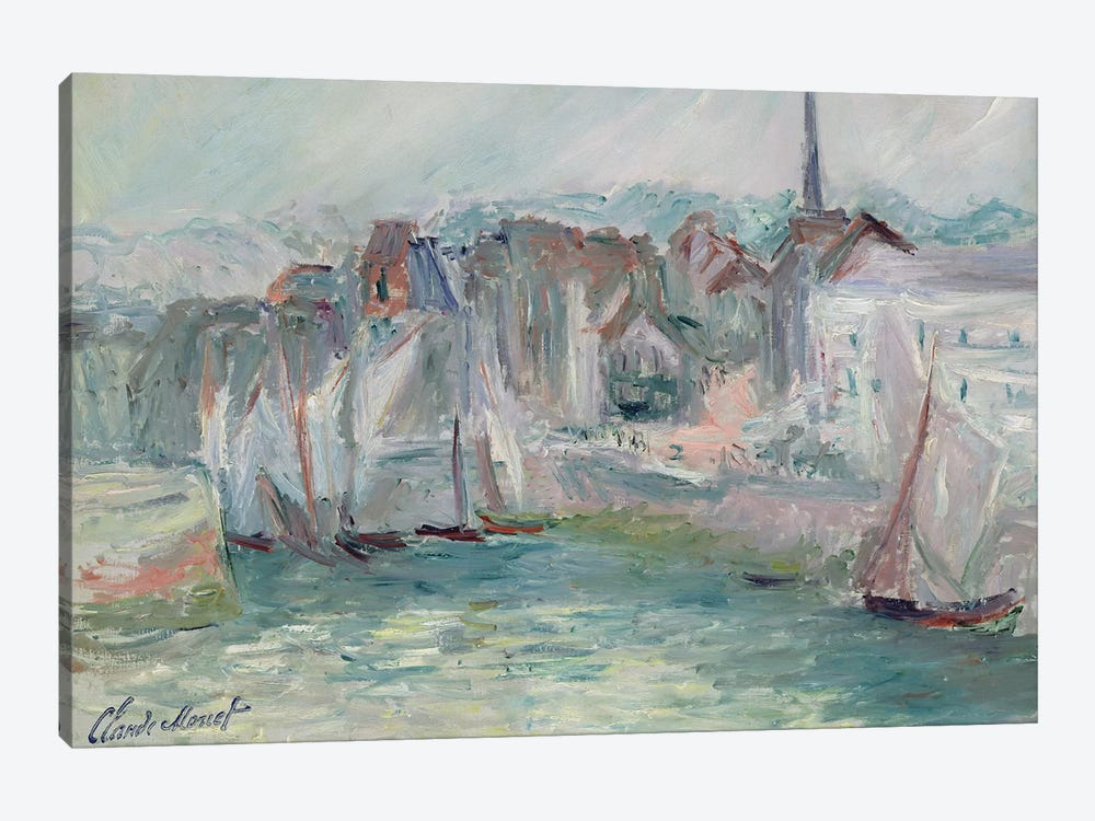 Boats in the Port of Honfleur, 1917  by Claude Monet 1-piece Canvas Art