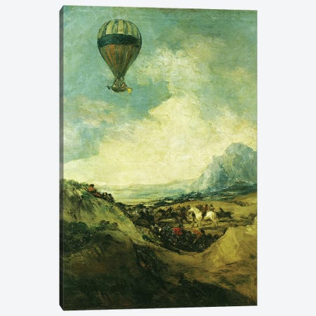 The Balloon or, The Ascent of the Montgolfier  Canvas Print #BMN2173} by Francisco Goya Canvas Art