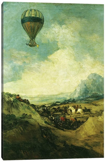 The Balloon or, The Ascent of the Montgolfier  Canvas Art Print