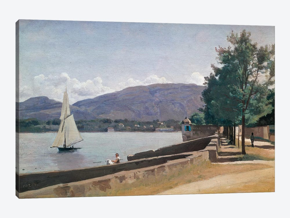 The Quai des Paquis, Geneva, c.1842  1-piece Art Print