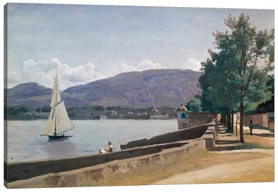 The Quai des Paquis, Geneva, c.1842  Canvas Art Print