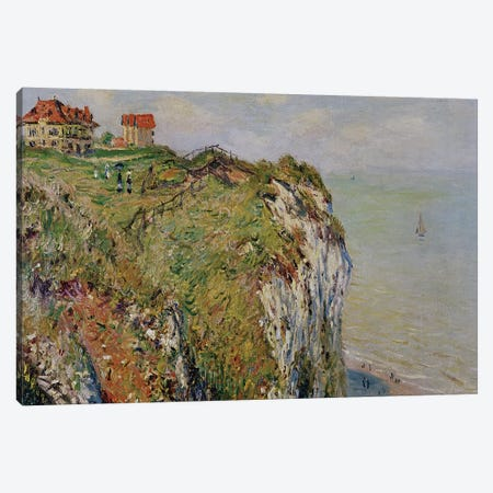 Cliff at Dieppe, 1882  Canvas Print #BMN2179} by Claude Monet Canvas Artwork