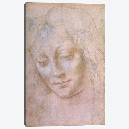 Head of a woman  Canvas Print #BMN2182} by Leonardo da Vinci Canvas Print