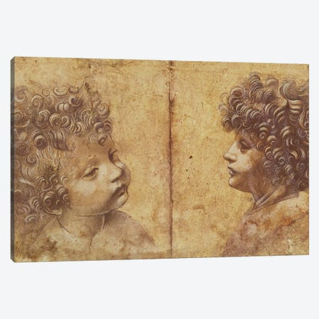 Study of a child's head  Canvas Print #BMN2183} by Leonardo da Vinci Canvas Art Print