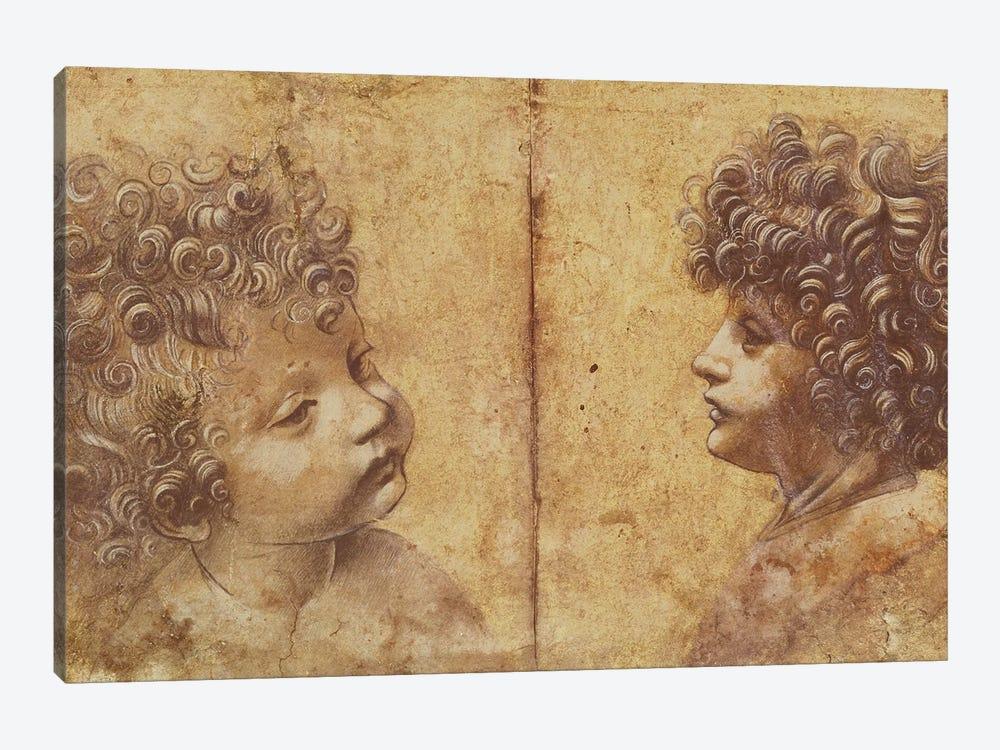 Study of a child's head  by Leonardo da Vinci 1-piece Canvas Art Print