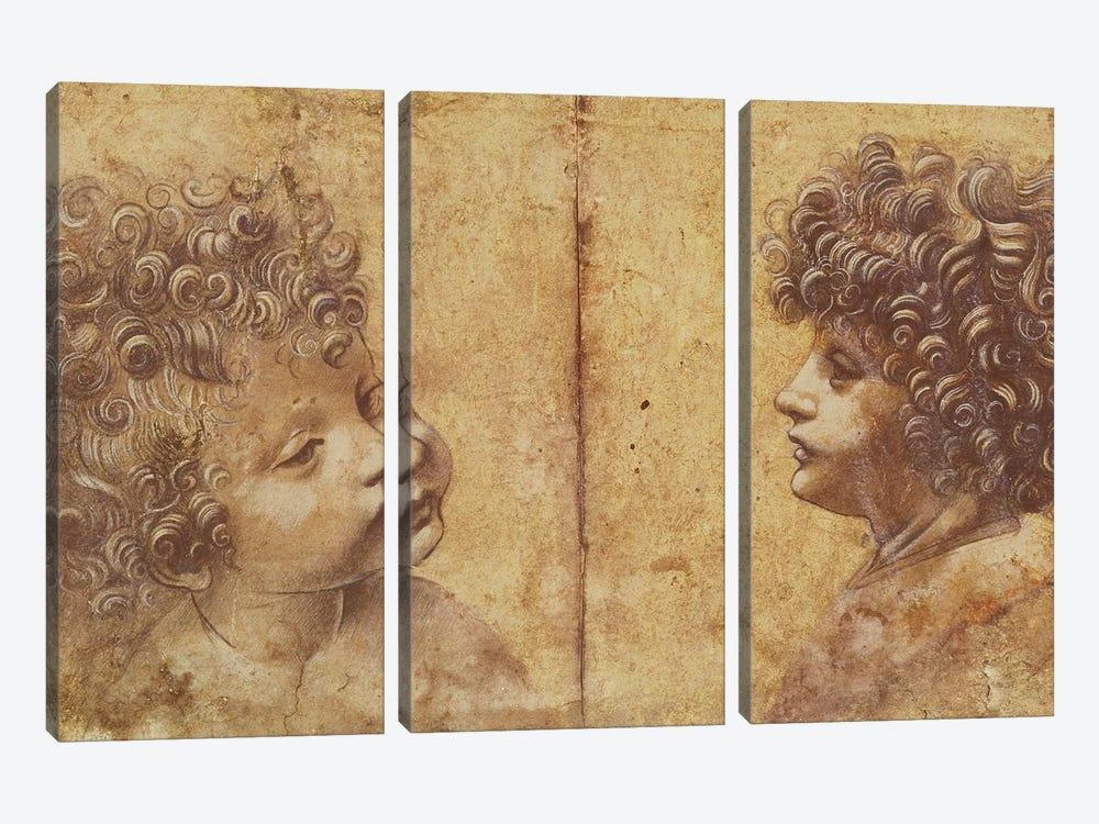 Study of a child's head  by Leonardo da Vinci 3-piece Art Print