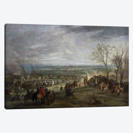 The Siege of Valenciennes, 1677  Canvas Print #BMN2186} by Adam Frans van der Meulen Canvas Wall Art