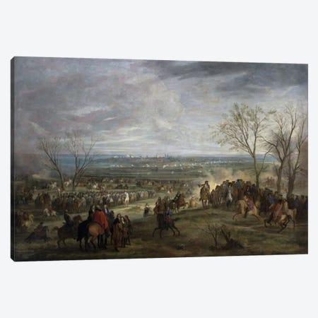 The Siege of Valenciennes, 1677  Canvas Print #BMN2186} by Adam Frans van der Meulen Canvas Wall Art