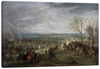 The Siege of Valenciennes, 1677  Canvas Art Print