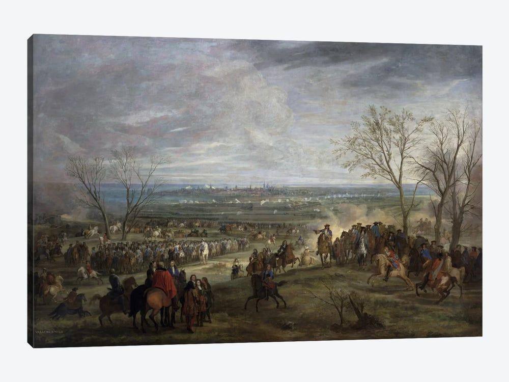The Siege of Valenciennes, 1677  by Adam Frans van der Meulen 1-piece Canvas Wall Art