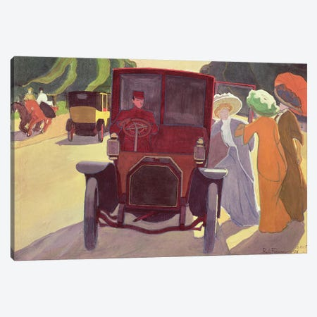 The Road with Acacias, 1908  Canvas Print #BMN2188} by Roger de la Fresnaye Canvas Print