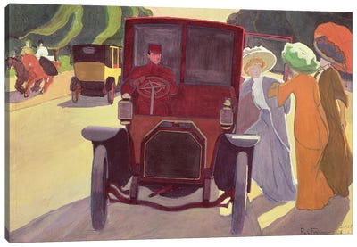 The Road with Acacias, 1908  Canvas Art Print