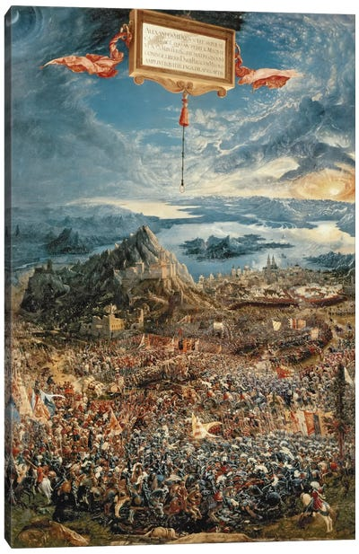 The Battle of Issus, or The Victory of Alexander the Great, 1529 Canvas Art Print