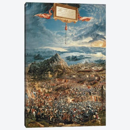 The Battle of Issus, or The Victory of Alexander the Great, 1529  Canvas Print #BMN218} by Albrecht Altdorfer Canvas Art Print