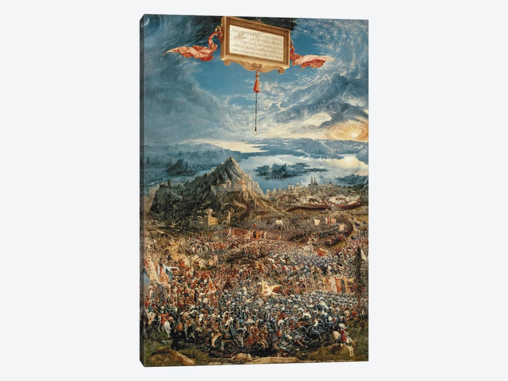 The Battle of Issus, or The Victory of Alexander the Great, 1529  by Albrecht Altdorfer 1-piece Art Print