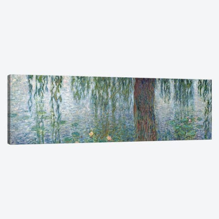 Waterlilies: Morning with Weeping Willows, detail of the left section, 1915-26   Canvas Print #BMN2190} by Claude Monet Canvas Wall Art